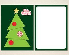 Natal - Cartão de Natal Árvore