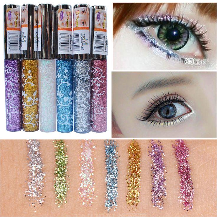 delineador maquiagem Makeup Tools Eye Liner Pen 7 Color Waterproof Long-lasting Shining Glitter White Gold Liquid Eyeliner