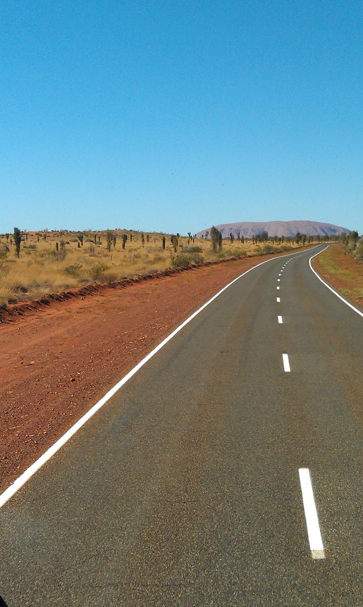 The road to Uluru.