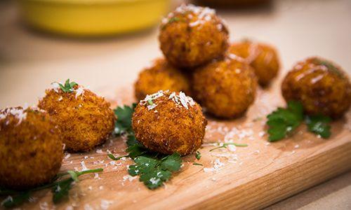 - Recipes - Sicilian Stuffed Rice Balls | Hallmark ChannelRice Ball ...