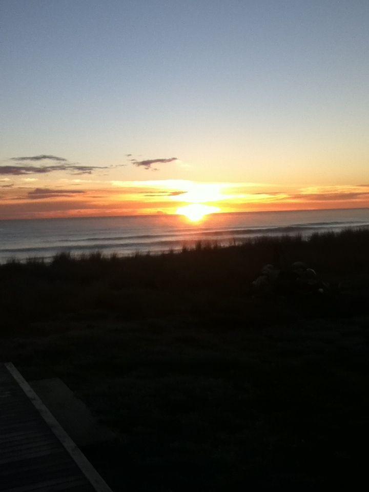 Sunrise at Pukehina beach