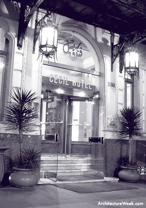 Entrance to the Cecil Hotel in Alexandria.  Photo: Steven Allan