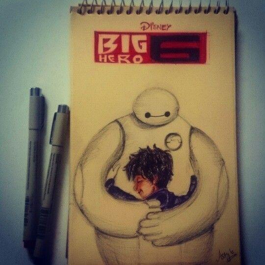#BigHero6 #Baymax #Hiro #sketch #astyle