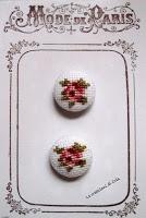LE CREAZIONI DI CRIS ... di tutto ... un pò: BOTTONI ricoperti e ricamati - Embroidered fabric-covered buttons