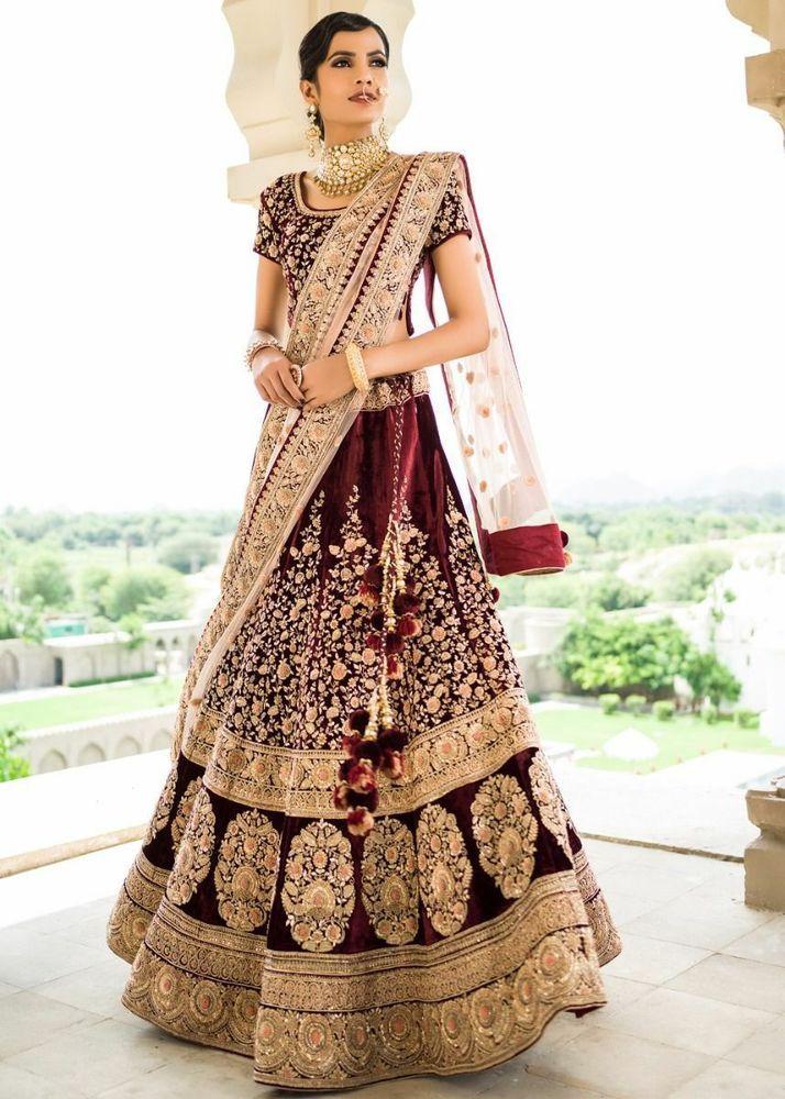 lehenga blouse Indian bridal Wedding womens wear bollywood heavy embroidery sari #suitsuitfever #magicofthesong #gurusirrocks #indianbride #punjabibride #bride #bigfatindianwedding #weddingphotography #realbridesworldwide #asianbride #weddingtrends #makeupartist