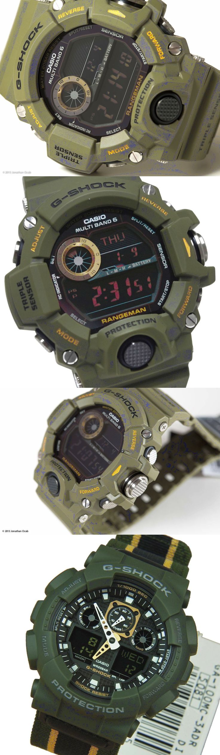 Cool G-Shock military green best Casio watches http://www.slideshare.net/leatherjackets/best-watches-reviews-2014-casio-gshock-black-watches-for-men