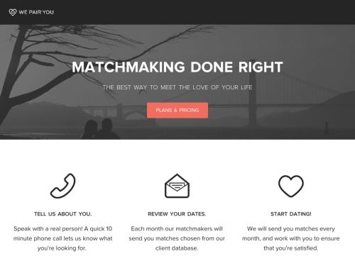 WePairYou: Personalized Matchmaker on mobile/web