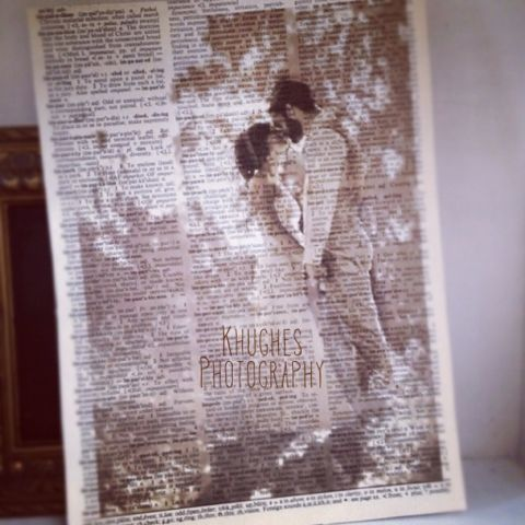 Something fun! Wedding photo printed in dictionary page. | KHughes Photography