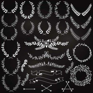 Set of wreaths white vector - Free Download - CGIspread