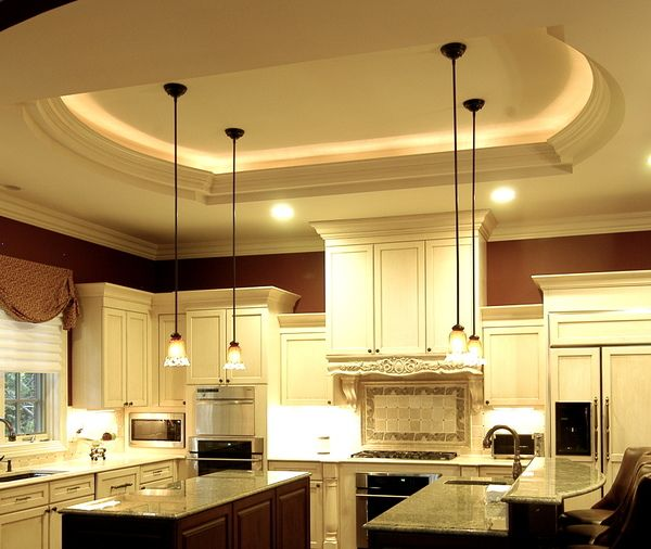 ceiling design with hanging lights