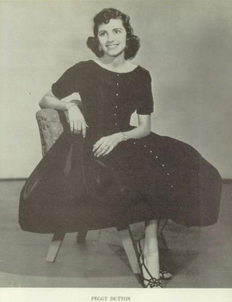 "Peggy Dutton - 1956 FFA Queen in the ""Bronco"" yearbook at Denton high school in Denton, Texas. #Denton #Bronco #yearbook #1956"