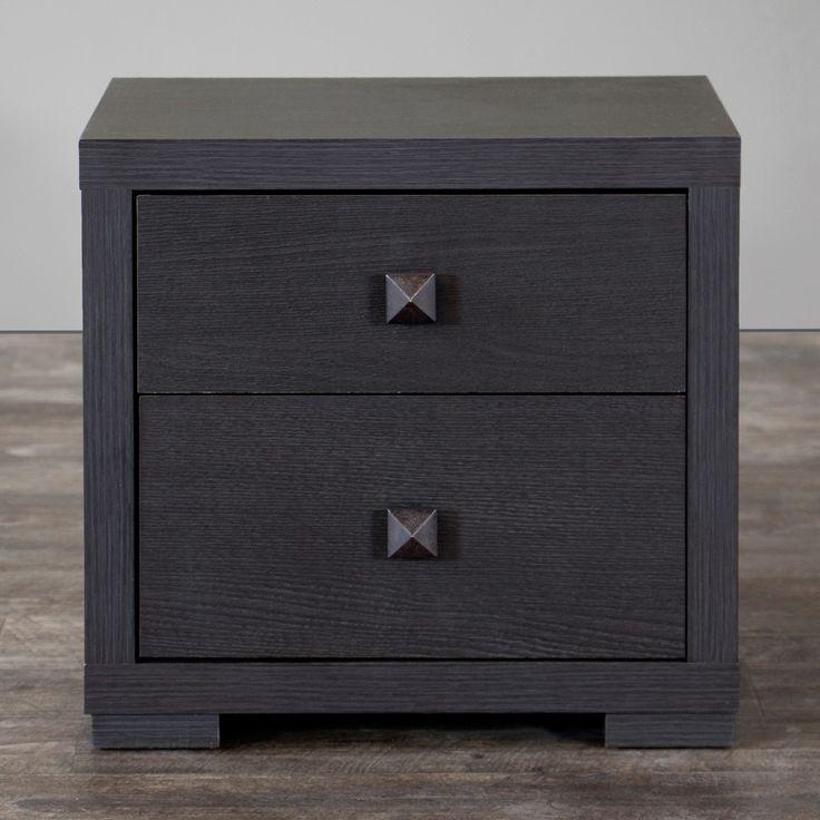 Wholesale Interiors Baxton Studio 2 Drawer Nightstand & Reviews | Wayfair