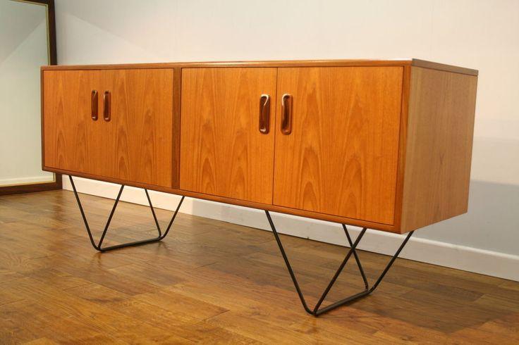 vintageretro.co.uk - Up-cycled 1970s G Plan Teak Sideboard on Hairpin Legs