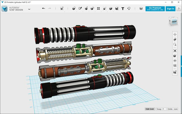123D Design is a 3-D CAD design design tool. Free but must download software. Best for more sophisticated projects than could be completed with Tinkercad.