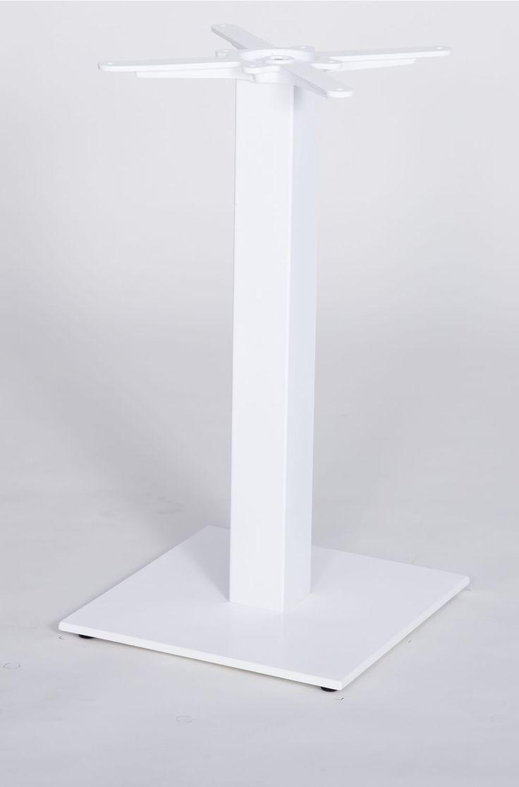 Space saving dining tables wenge minima simple aluminium dining table - Gorzan White Or Grey Kitchen Dining Table Base Frame Cast Iron Square Slimline Flat Base