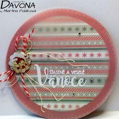 Vánoční kruhové přání