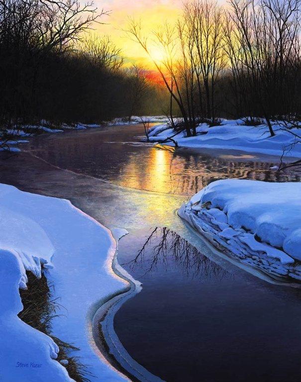 """""""Winter Solitude"""" S - The Paintings of Steven Kozar"""