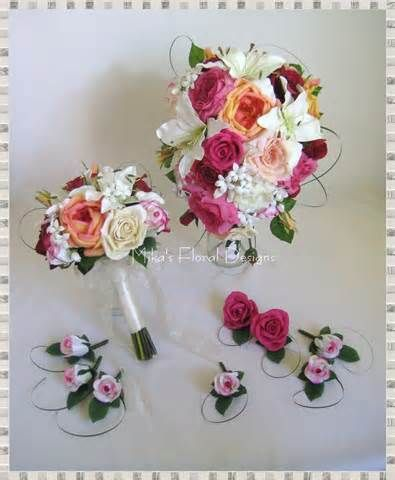 Real Touch Calla Lily and Stephanotis Wedding Flower Arrangements