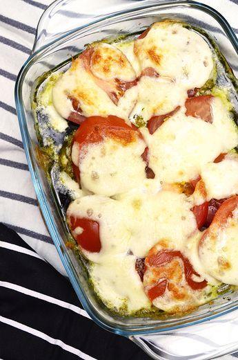 Kipfilet uit de oven met mozzarella, pesto en tomaat7