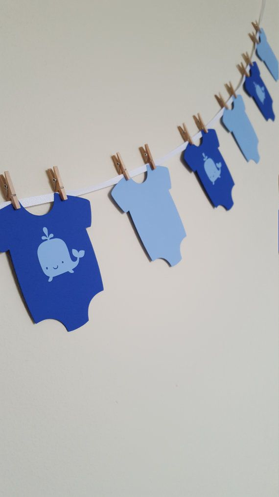 Whale Onesies Whale Baby Shower It's a Boy by ThePaperPropShop