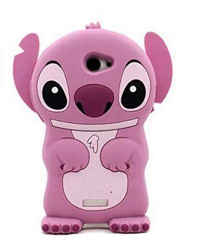 3D Blue Stitch & Lilo Soft Silicone Case Cover For Alcatel LG HTC Mobile Cell Phone (HTC Desire 510, pink)