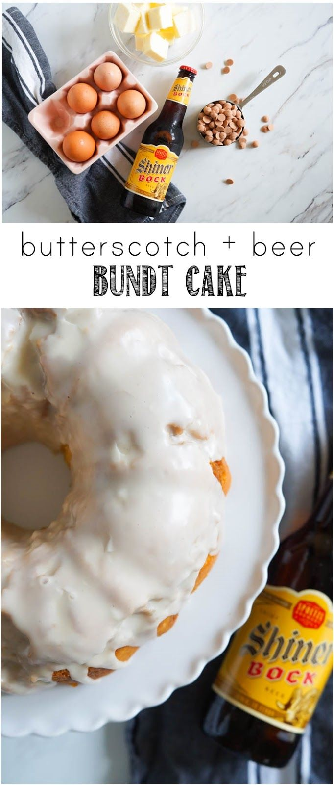 Butterscotch + Beer Bundt Cake | a great dessert for any beer-lover from bakeat350.net