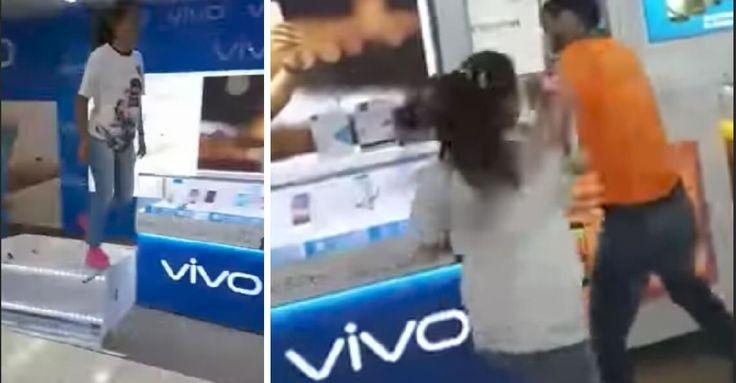 Kunden rasten im Handyshop aus: Prügeln sich mit Verkäufern & verwüsten den Store!!