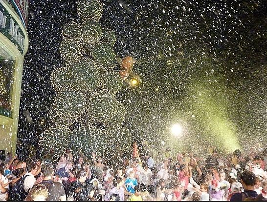fake snow machine events for cities