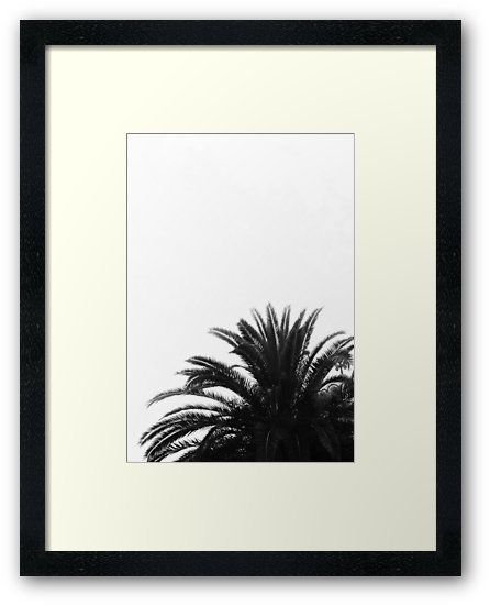 Palm Tree In BW Framed Art Print by ARTbyJWP from Redbubble #artprints #buyart #framedart #walldeco #homedecor #blackandwhite #palm #minimal --- Monochrome abstract composition of palm tree top leaves • Also buy this artwork on home decor, apparel, stickers, and more.