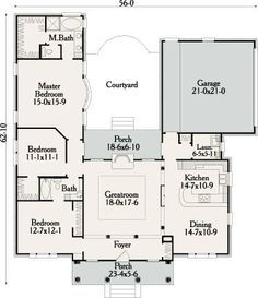 49 best u shaped houses images on pinterest arquitetura for House plans with mudroom australia