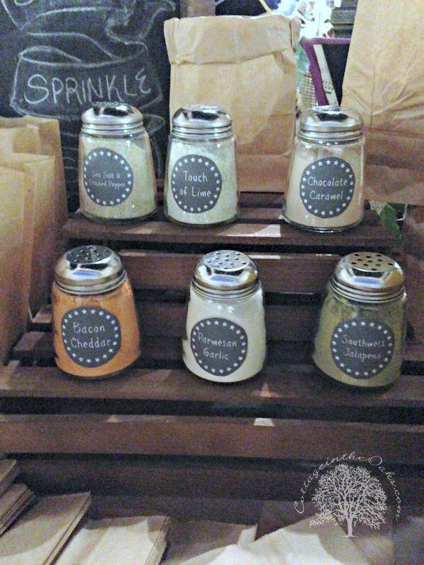 Popcorn Bar Seasonings- Link for cheap shakers