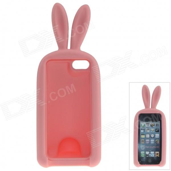 Color: Pink; Quantity: 1 Piece; Material: Silicone; Shade Of Color: Pink; Compatible Models: IPHONE 5S,IPHONE 5; Design: With Stand,Special Shaped,Cartoon; Style: Back Cases; Other Features: Protects your device from scratches, dust, shock and abrasion; With stand design for comfortable viewing; The tail can store the earphones for convenient carrying; Packing List: 1 x Protective case; http://j.mp/1lkyr2t