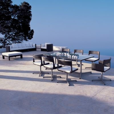 XXL Wicker Modern Outdoor Dining Set 9-piece for $15,654 #OutdoorPatioDiningSets #OutdoorFurniture #CozyDays