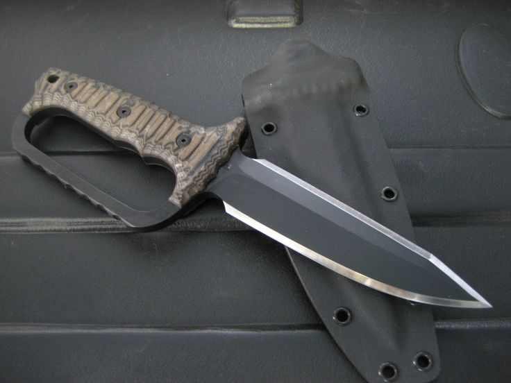 Miller Bros. Blades (MBB) M-36 With Custom D Guard. Double edged Dagger / Trench Knife