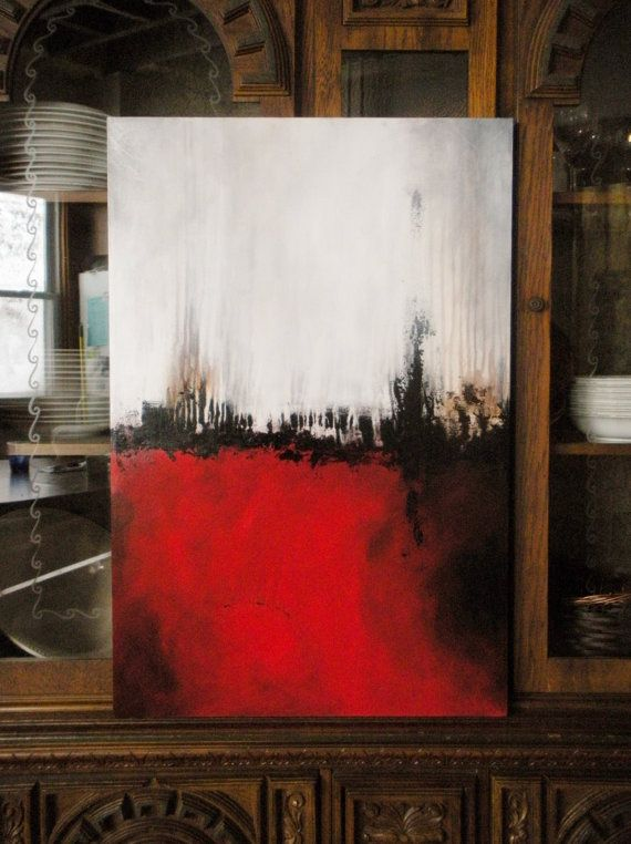 Red Painting Original Abstract Painting par heatherdaypaintings