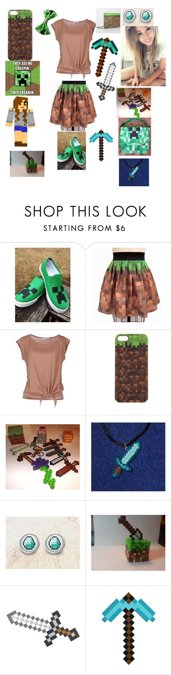 """""""My MineCraft outfit! ~ Sierra"""" by sierrahoran12 ❤ liked on Polyvore featuring jucca"""