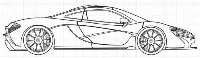 Mercedes McLaren P1 Coloring Page | Ausmalbilder, Mclaren ...