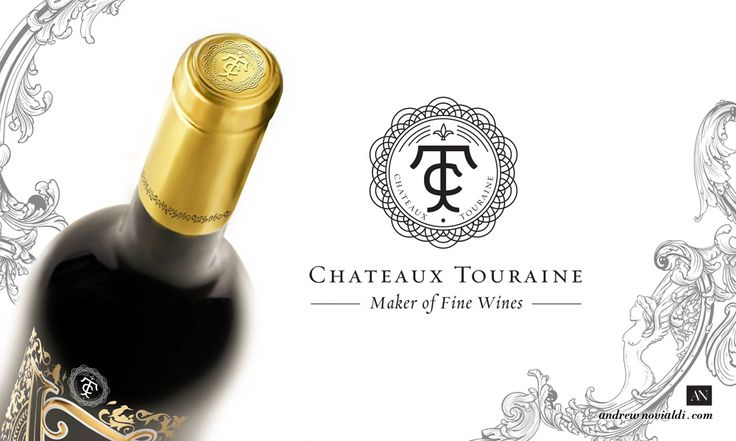 Elegant French Wines Package Design