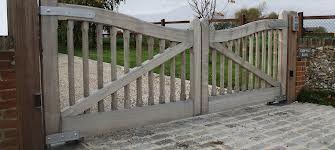 Beautiful oak gates - can be automated.
