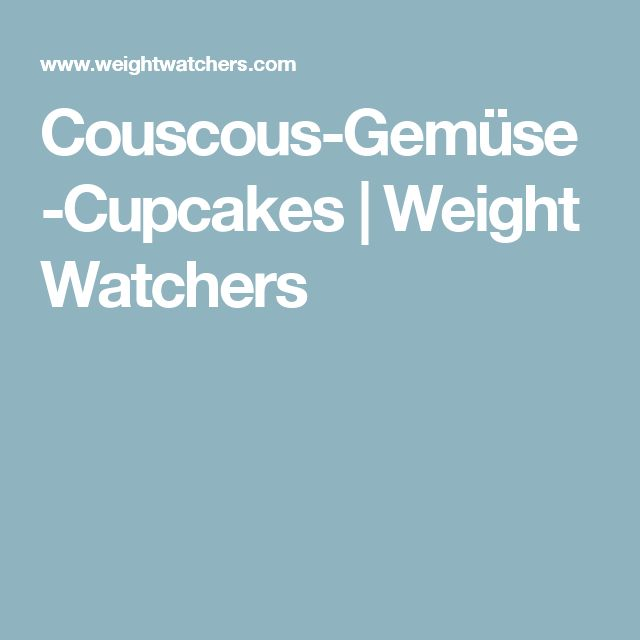 Couscous-Gemüse-Cupcakes | Weight Watchers