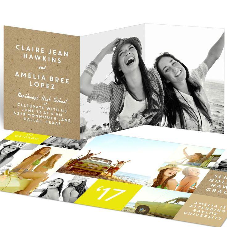 Joint Party Kraft Collage | Graduation Announcements
