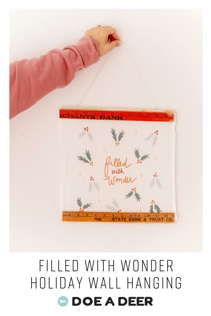 Filled With Wonder Holiday Wall Hanging