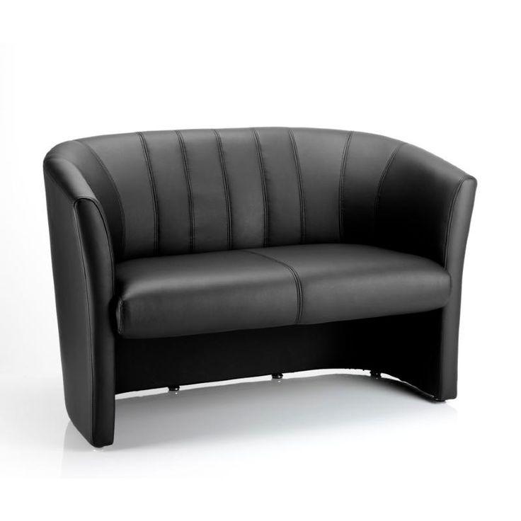 Black Leather Sofa Office: Black Leather Sofa. Reception Sofa. Office Seating