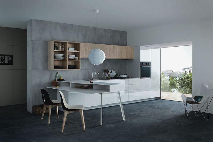 beton architektoniczny w kuchni