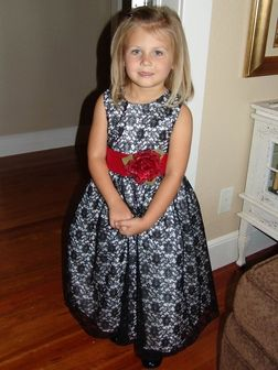 Submitted by: Melissa C. from Mountain View, OK  Date: October 14, 2011: Pattern Dress, Dresses Wpolysilk, Mountain View, Dresses W Polysilk, Black Laces, Exact Dresses, Patterns Dresses, Flower, Lace Patterns