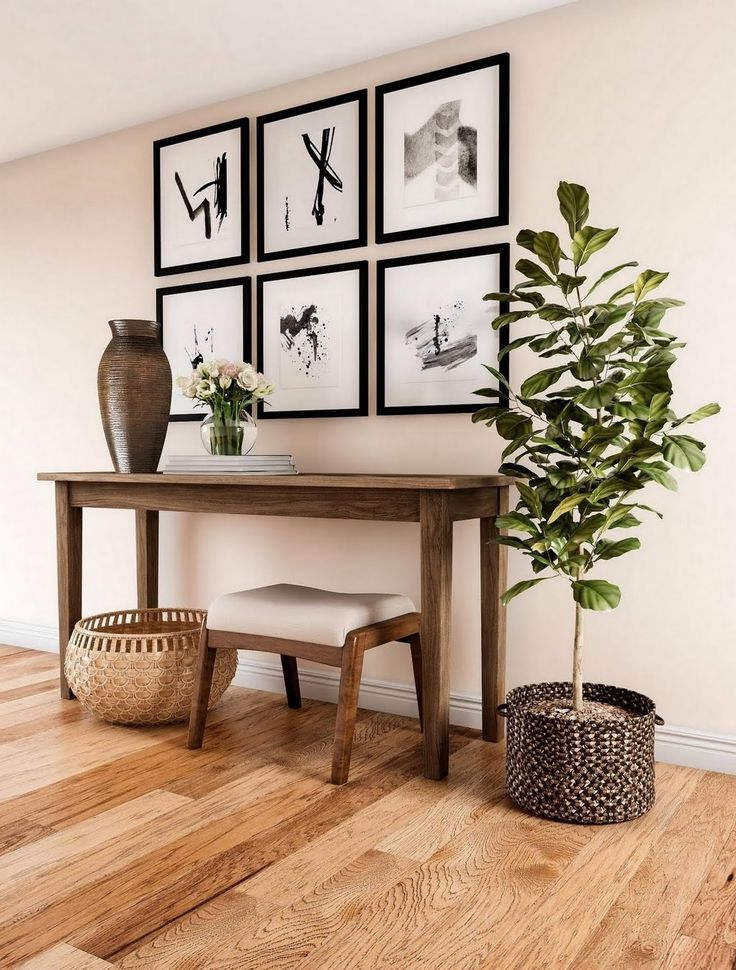 Shop Our Entryway Department To Customize Your Classic Entryway In Medium Wood Tones Today At The Home Depot Foyer Decorating Decor Modern Hallway