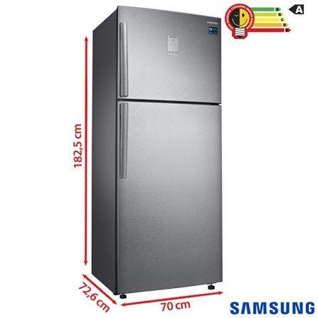 Refrigerador de 02 Portas Samsung Frost Free com 453 Litros Painel Eletronico Inox - Twin Cooling Plus - RT46K6361SL, 110V, 220V, Inox, 02 Portas, 02 Portas, Não, De 351 a 500 litros, 453 Litros, 342 Litros, 111 Litros, Sim, Sim, Sim, Sim, Não, Não, Não se aplica, Não, 02, Não, Não, Não, Sim, A, 38 kWh/mês, 12 meses