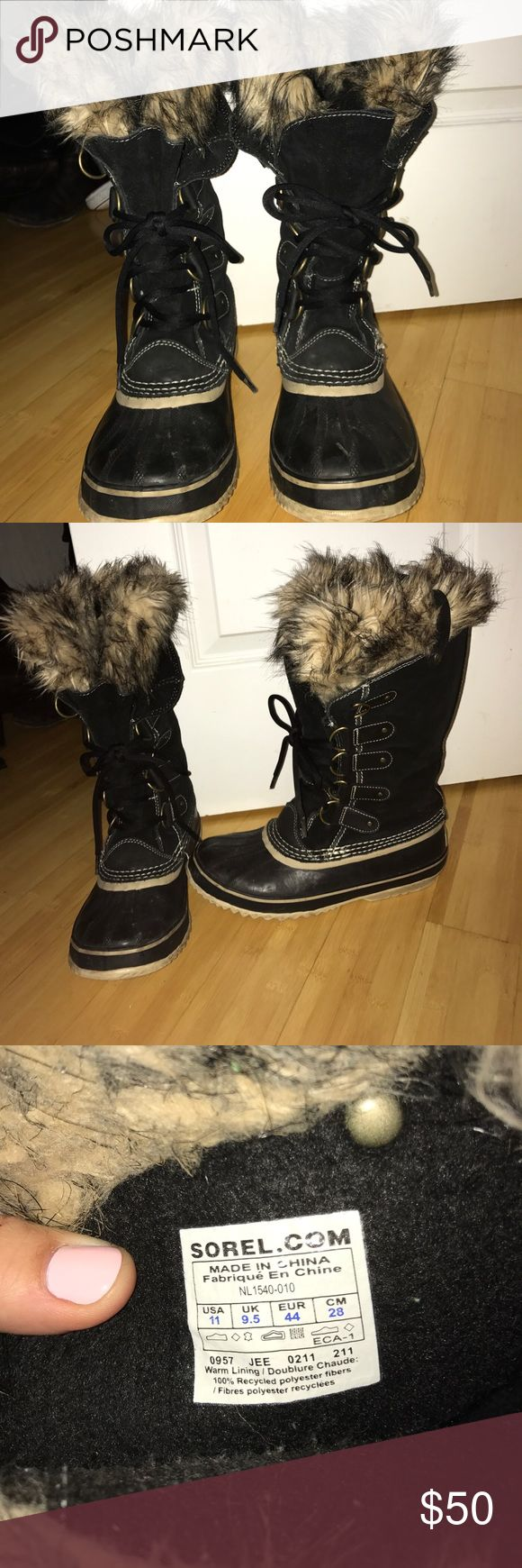 Sorry Joan of Arc black boots size11 sorry Joan or Arc boots. Size 11 Sorel Shoes Winter & Rain Boots