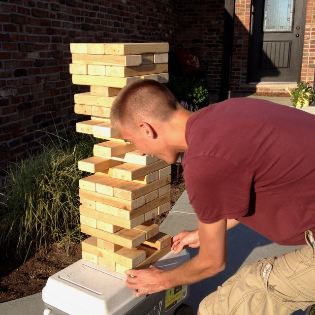 life size jenga game easy and fun oh so your crafty pinterest game fun and jenga game. Black Bedroom Furniture Sets. Home Design Ideas