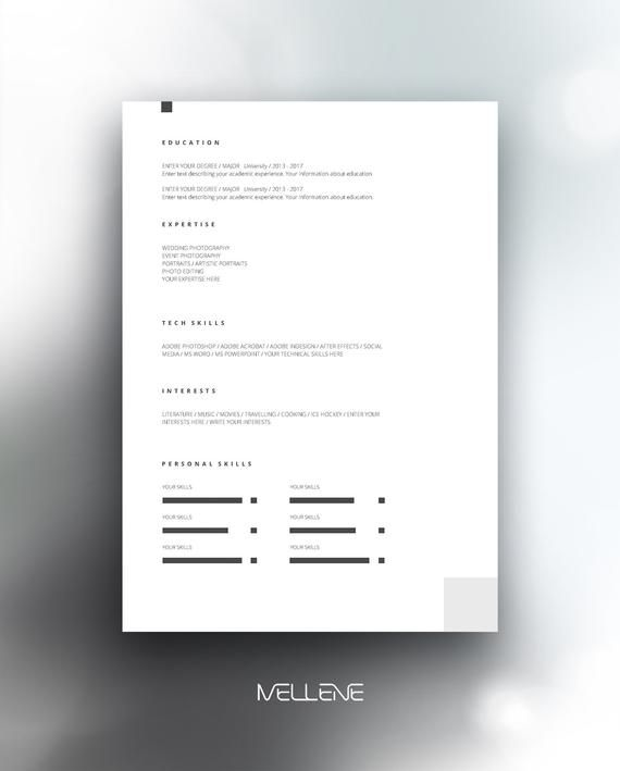 Resume Template 5 Page Cv Template Cover Letter Instant Etsy Modele Cv Curriculum Vitae Emploi De Reve